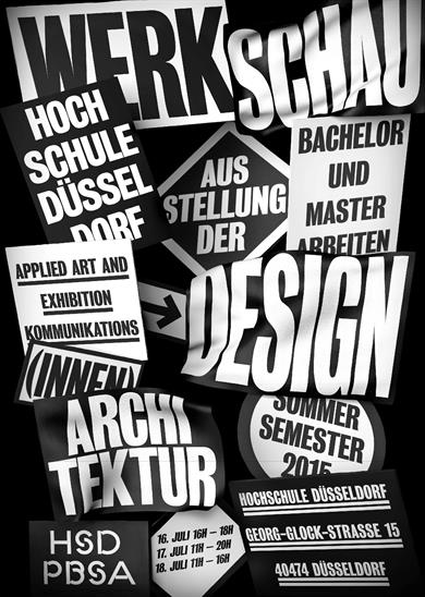 Peter Behrens School of Arts Werkschau summer term 2015 poster