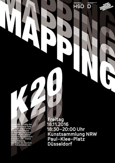 Intra muros zum Thema Video Mapping, Plakat